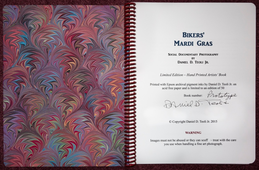 Selection from 'Bikers' Mardi Gras' artists' book by Daniel D. Teoli Jr.