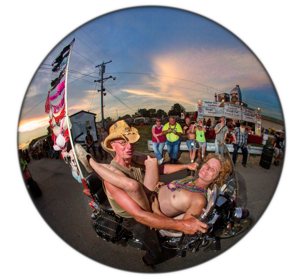 Selection from 'Bikers' Mardi Gras' artists' book by Daniel D. Teoli Jr.