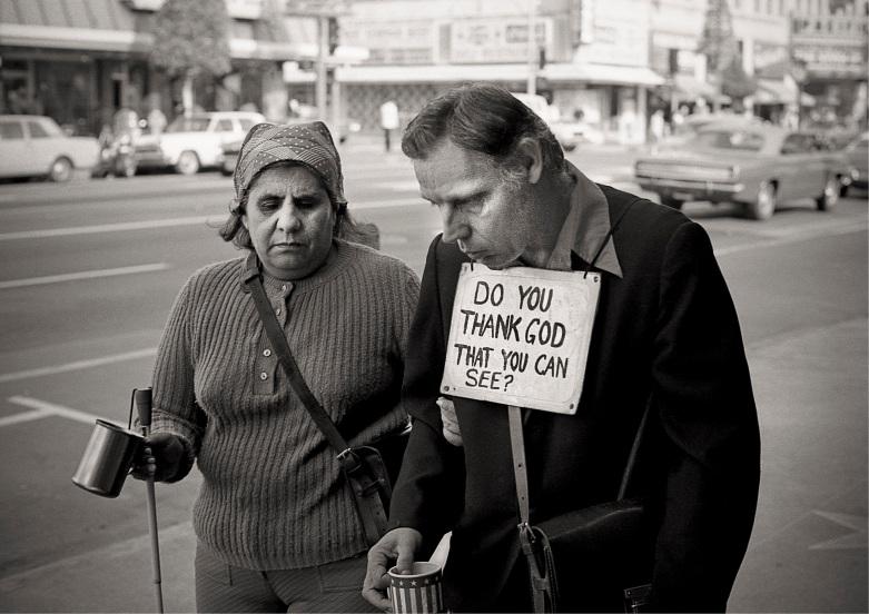 Two Blind Beggars copyright 1972 Daniel D. Teoli Jr. mr