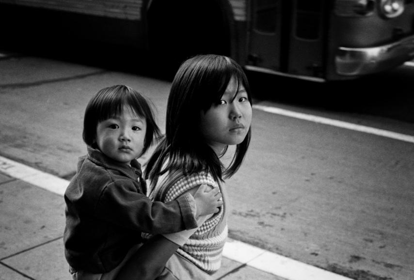 Two Oriental Children copyright 1971 Daniel D. Teoli Jr.