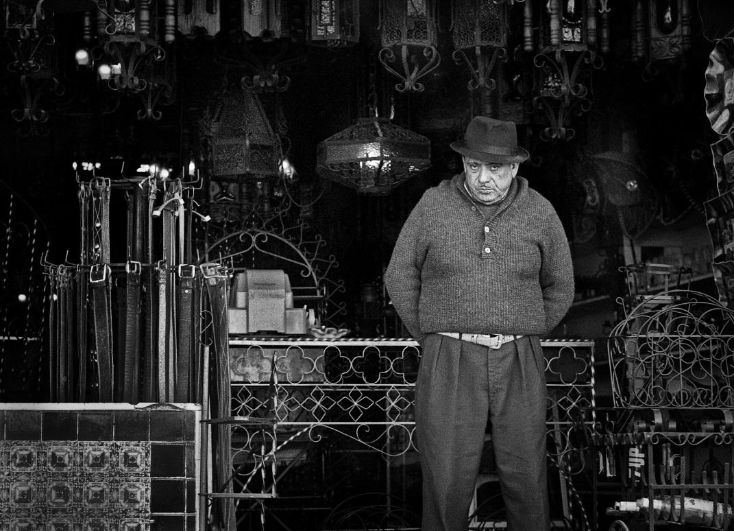 Wrought Iron Shopkeeper copyright 1971 Daniel D. Teoli Jr. mr