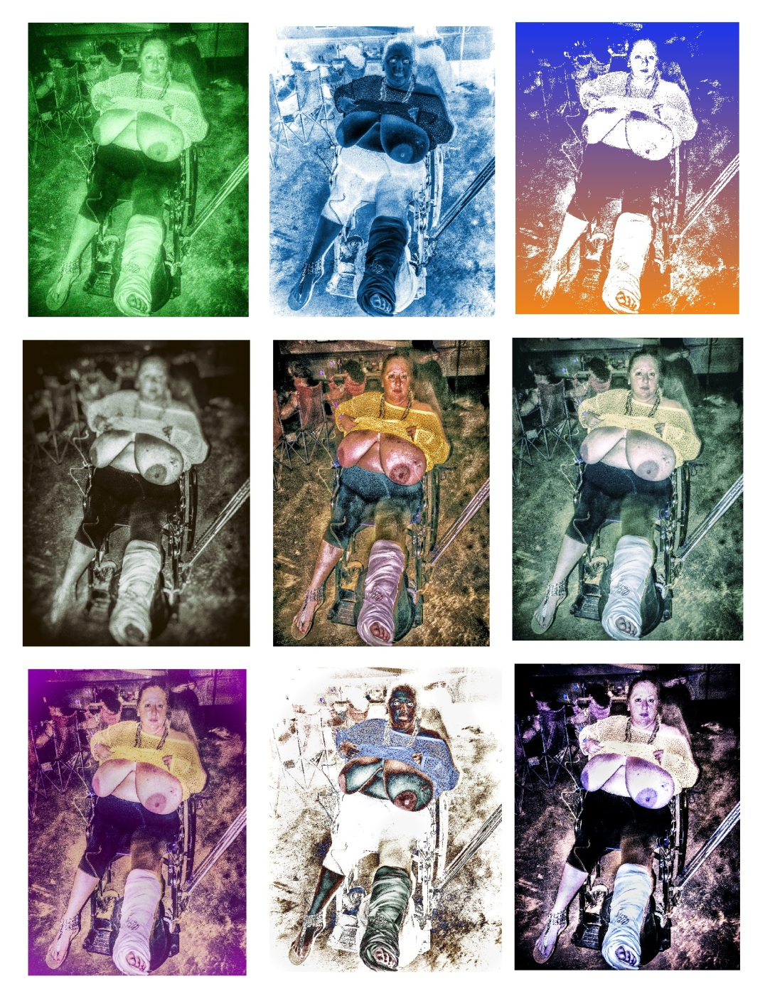 Wheelchair Collage copyright 2012 Daniel D. Teoli Jr. mr