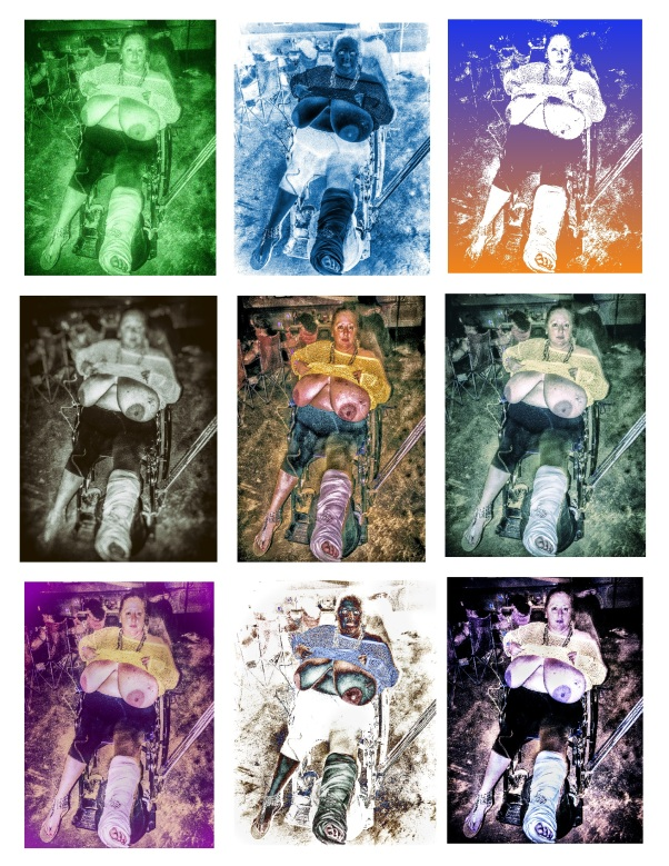 Wheelchair Collage copyright 2012 Daniel D. Teoli Jr. mr