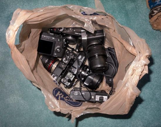 camera bag D.D. Teoli Jr.