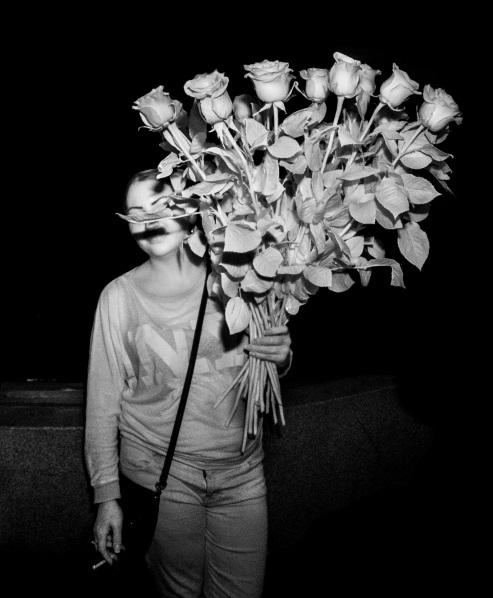 Flower Seller Hollywood Blvd infrared flash Daniel D. Teoli Jr.