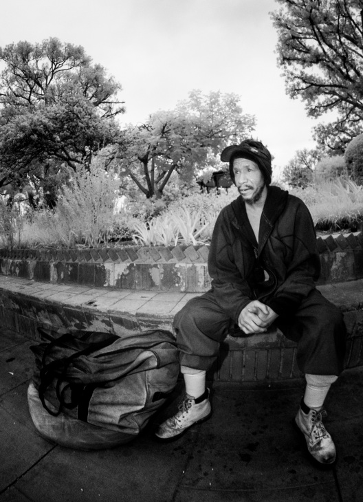Homeless Man Infrared Flash 2015 Daniel D. Teoli Jr. mr - Copy