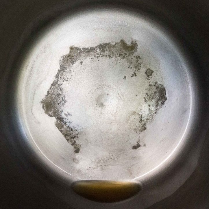 Distillation residue from 1 gal of Rethink Canadian Tetra Pak bottled water D.D.Teoli Jr.