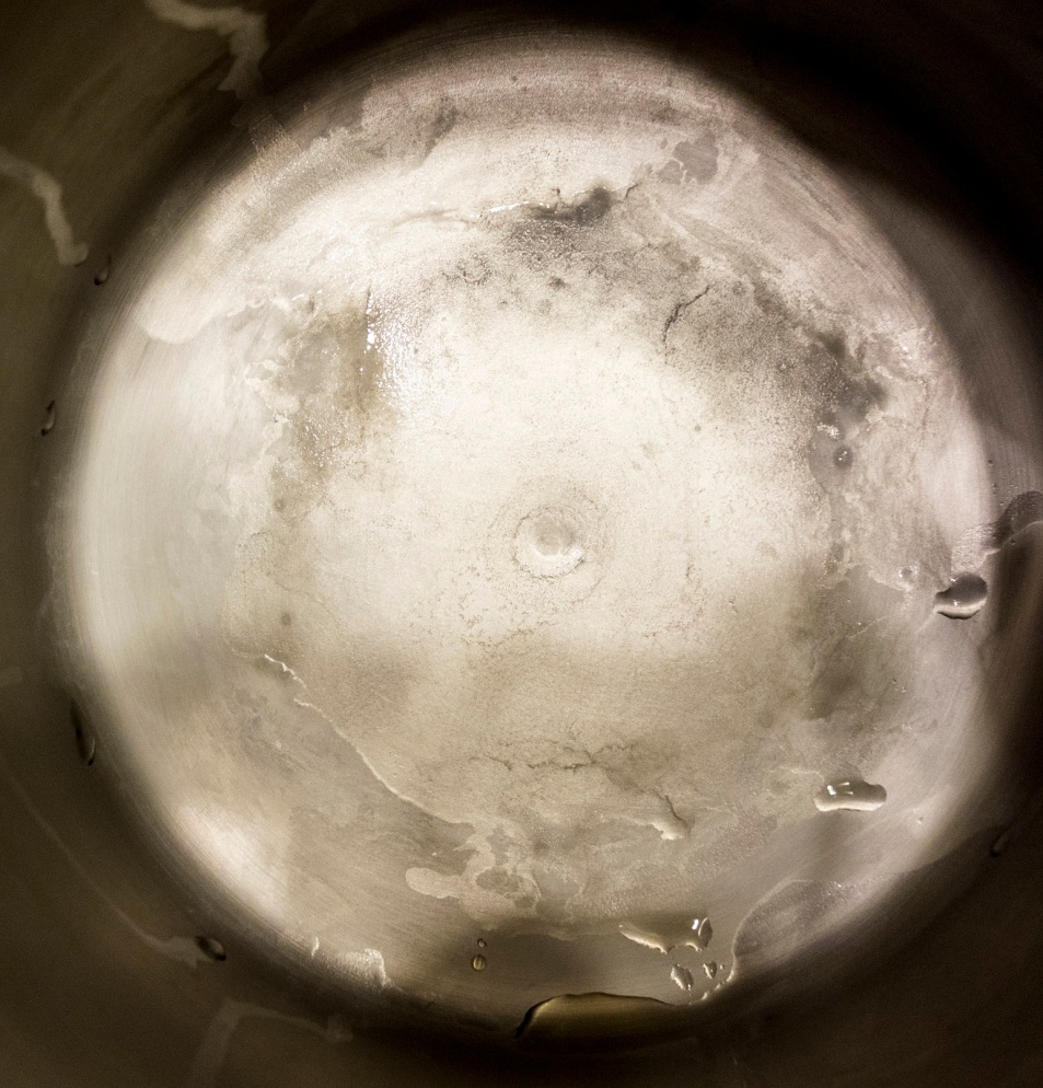 Distillation residue from 1 gallon of Icelandic Glacial Spring water