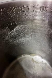 Distillation residue from 1 gallon of Polar Spring Water 2