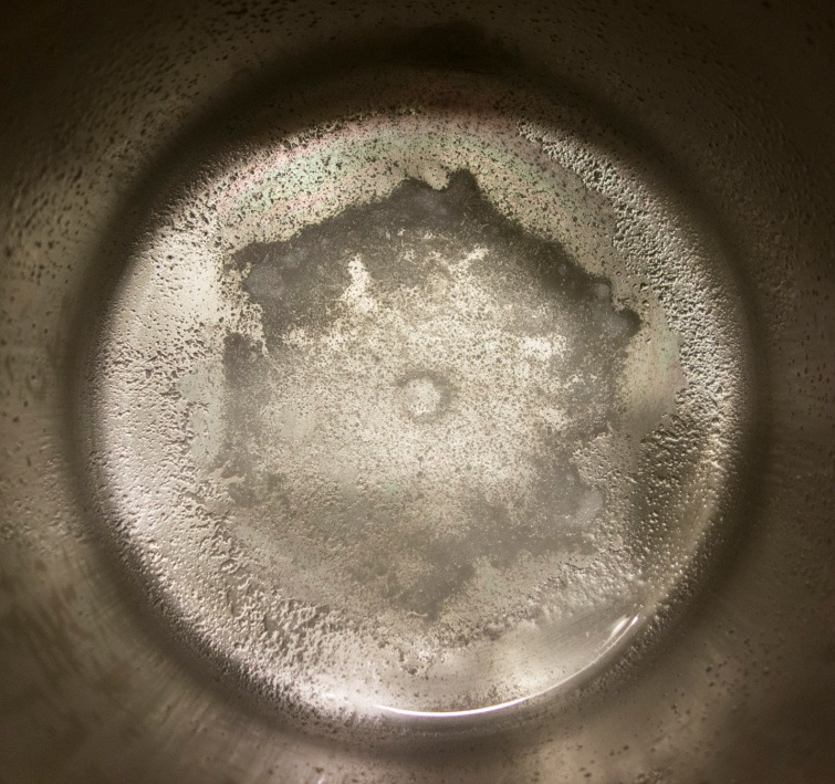 Distillation residue from 1 gallon ofDeer Park Spring Water 5.2.2016