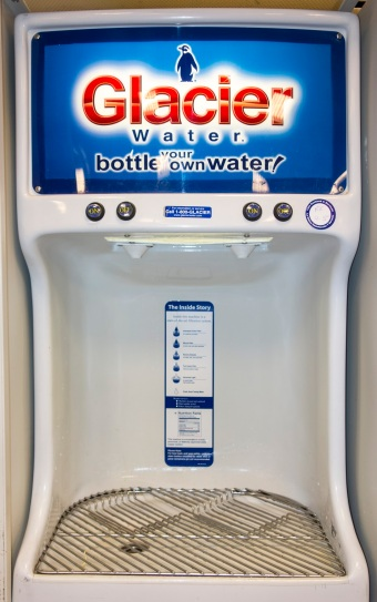 Glacier self-serve water vending machine