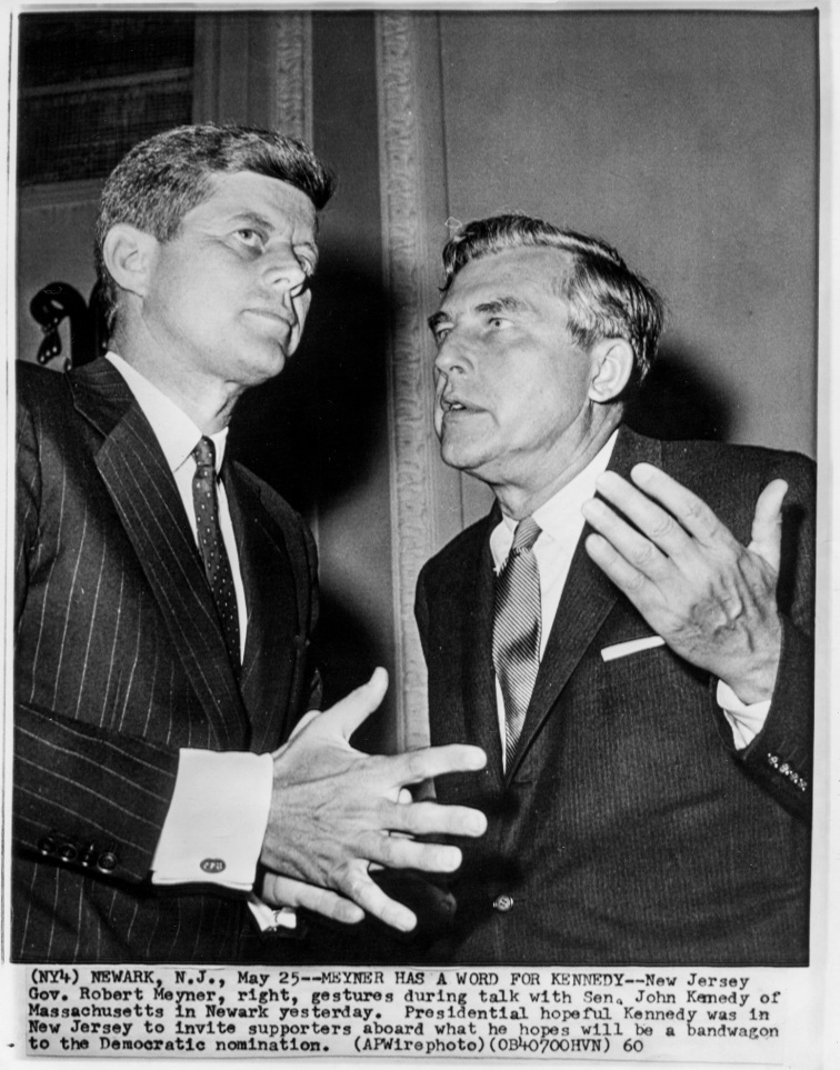 John F. Kennedy & Gov. Robert Meyner Newark, N.J.- Daniel D. Teoli Jr. Archival Collection