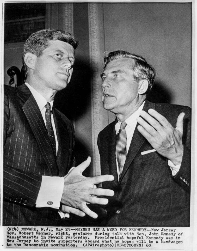 John F. Kennedy & Gov. Robert Meyner Newark, N.J.- Daniel D. Teoli Jr. Archival Collection