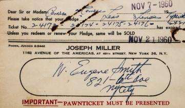 W. Eugene Smith pawn ticket