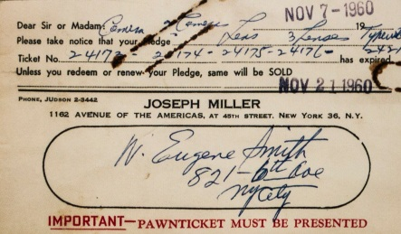 W. Eugene Smith pawn ticket