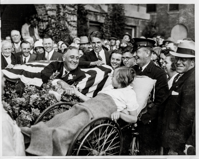 1932 post-DNC Roosevelt greets Melody Bresina Temple of Dreams Daniel D. Teoli Jr (3)mk
