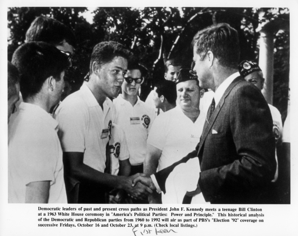 1963 clinton meets JFK Temple of Dreams Daniel D. Teoli Jr (13)m