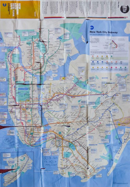 NYC map used by Daniel D. Teoli Jr. for The Americans...60's years after Frank