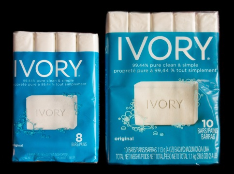 Old and new Ivory soap comparison D.D. Teoli Jr..
