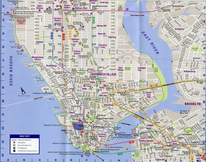 Street Map Lower Manhattan D.D. Teoli Jr. A.C.