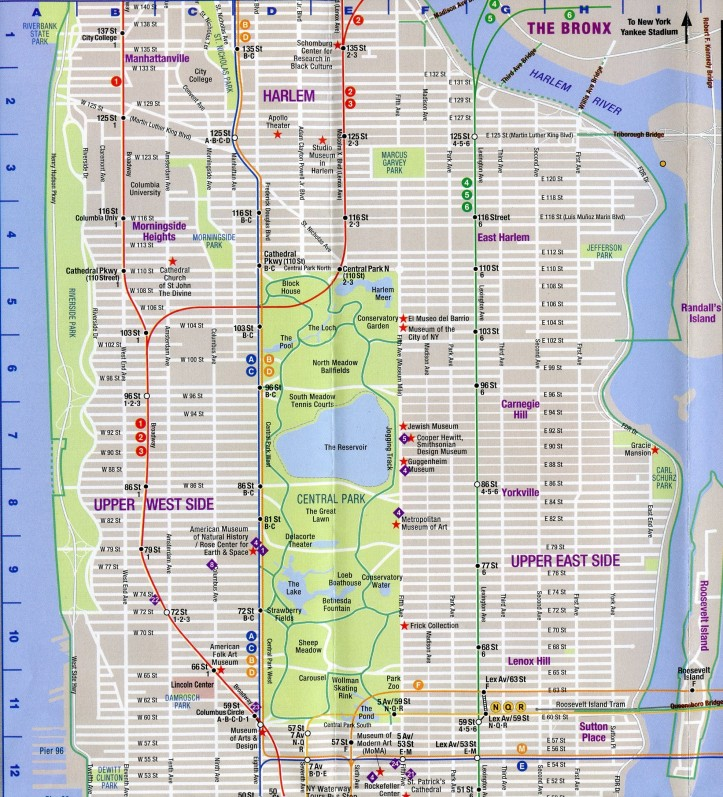 Street Map Upper Manhattan D.D. Teoli Jr. A.C.