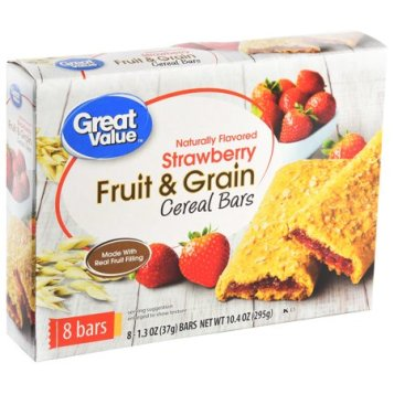 walmart fruit & grain cereal bar